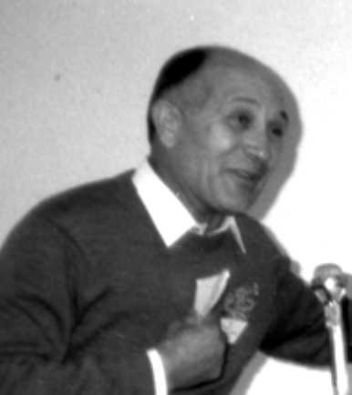 Remo Magnani en un congrés de SAT-Amikaro (Pesenàs, 1989)