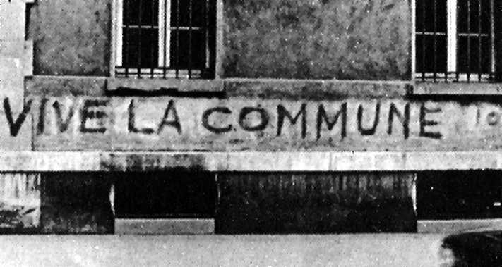 Una pintada en un carrer parisenc durant el Maig del 68