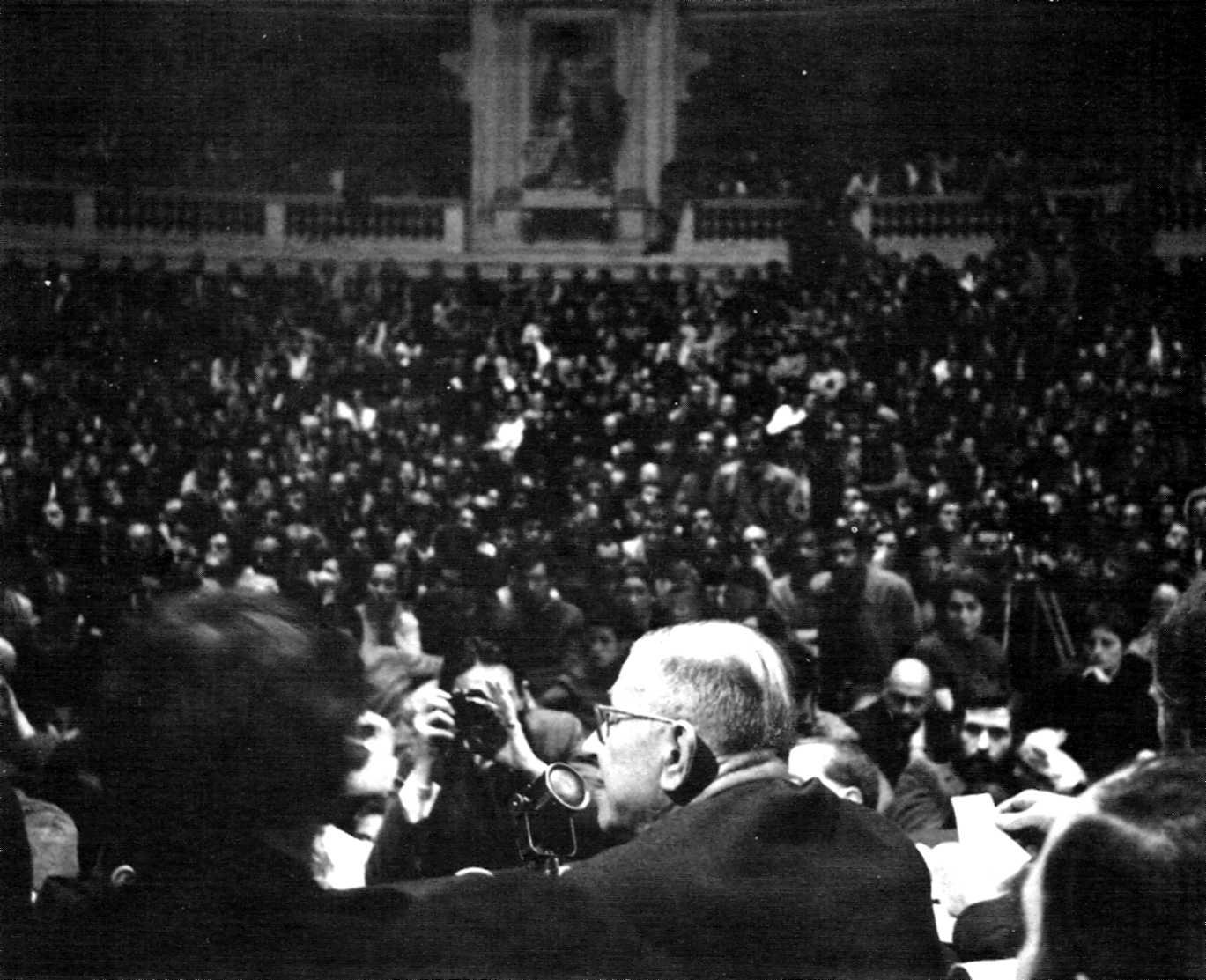 Jean-Paul Sartre a la Sorbona (20 de maig de 1968)