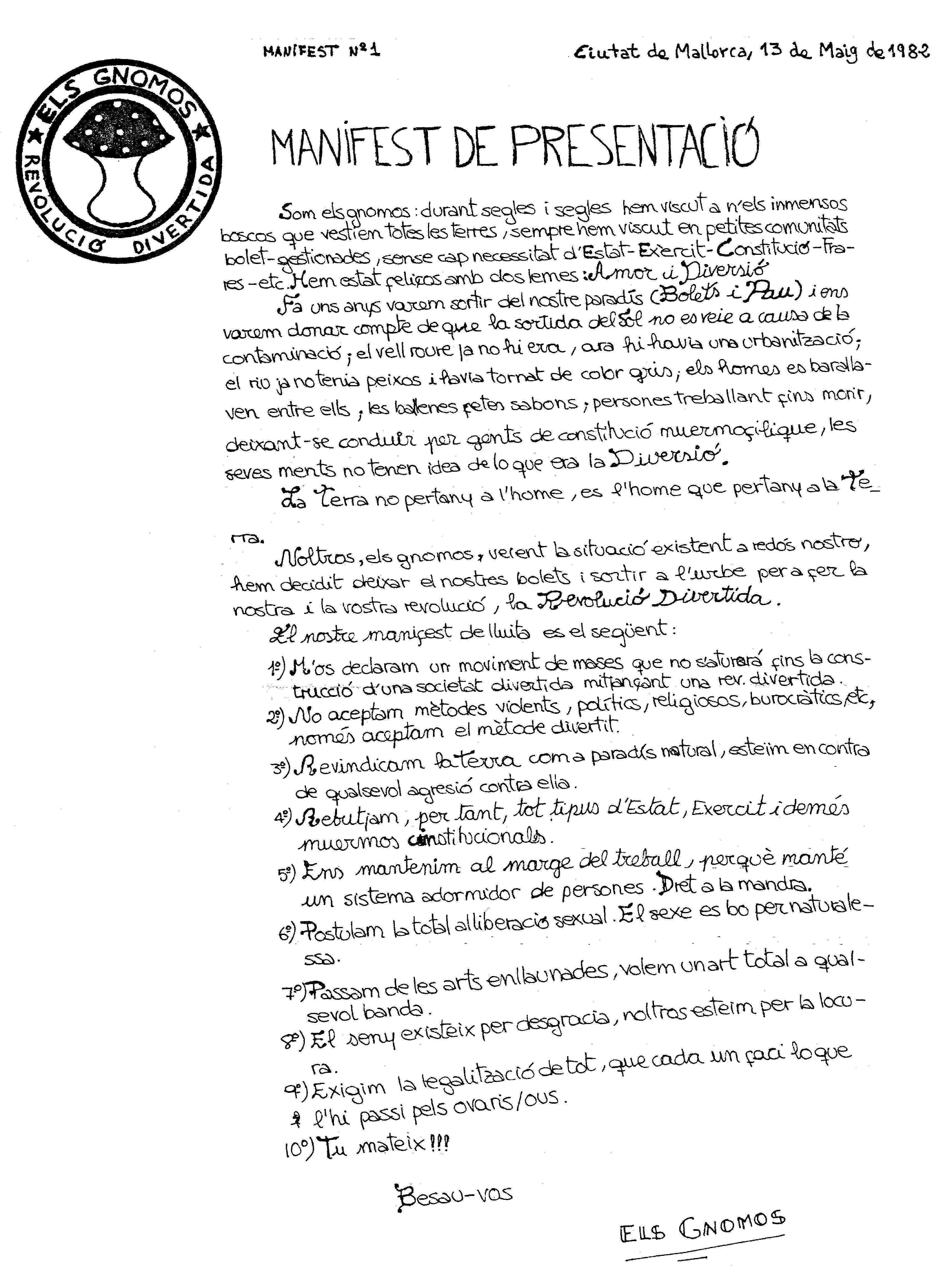 Manifest d'Els Gnomos