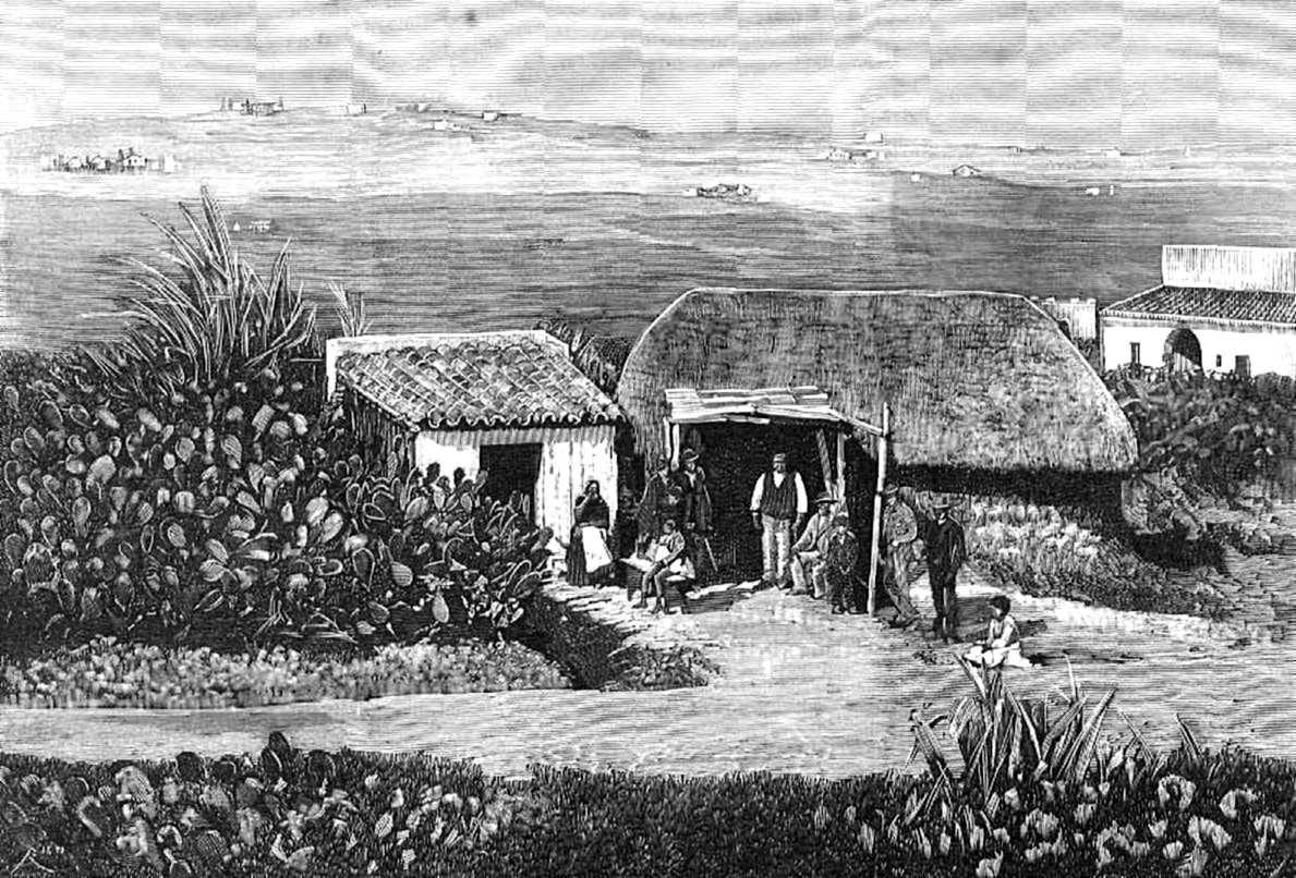 La taverna dels esposos Núñez al camí de Jerez a Trebujena segons «La Ilustración Española y Americana» del 22 de març de 1883