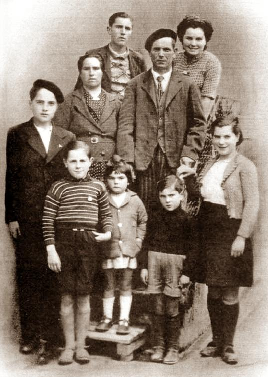 Marcelino Sanz Mateo i sa nombrosa família