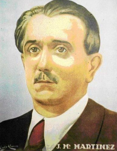 Tarjeta postal dedicada a José M. Martínez Sánchez