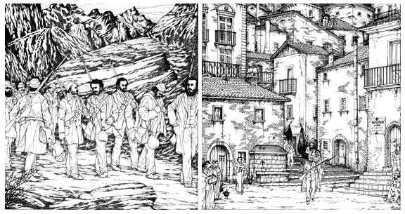 Dos escenas de la insurreción en Matese