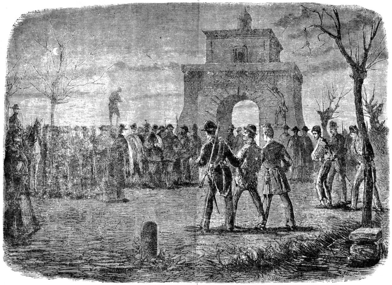 La detenció de la Banda del Matese segons un gravat de Ballarini