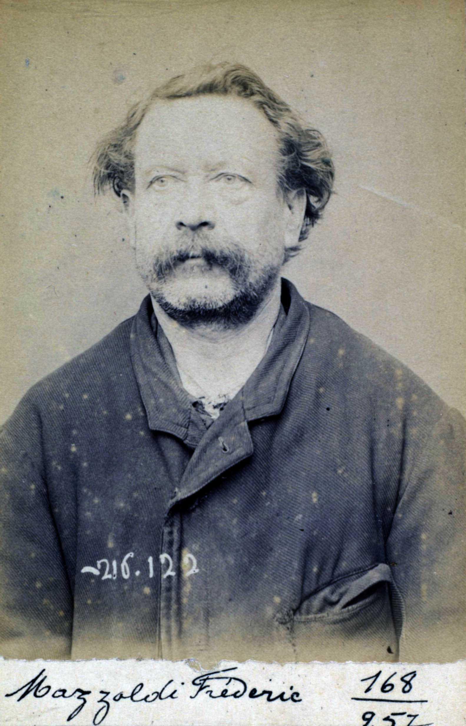Foto policíaca de Frédéric Mazzoldi (23 de març de 1894)