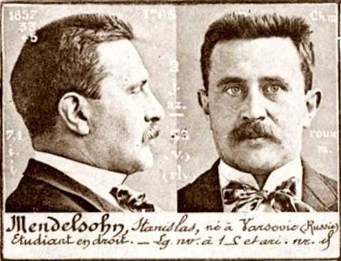 Foto policíaca d'Stanislaw Mendelson (ca. 1894)