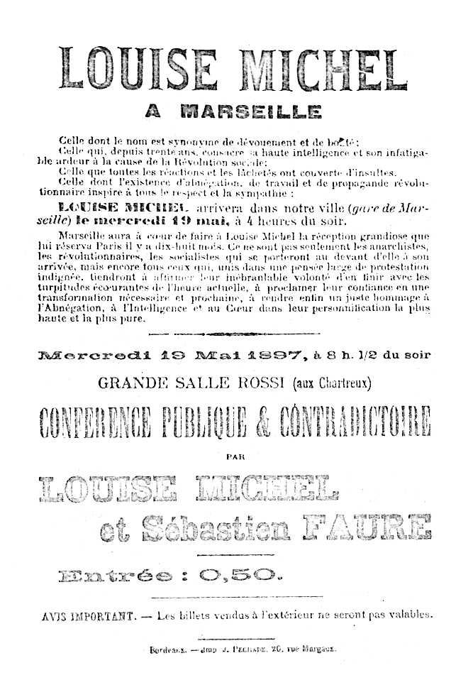 Cartell de la conferència de Michel i de Faure