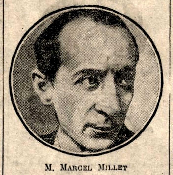 """Retrat de Marcel Millet aparegut en el diari parisenc """"Le Journal"""" del 8 de gener de 1929"""