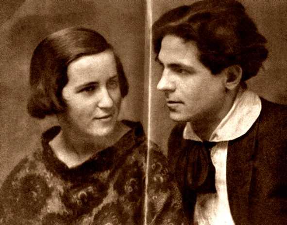Pia Zanolli con su compañero Bruno Misèfari