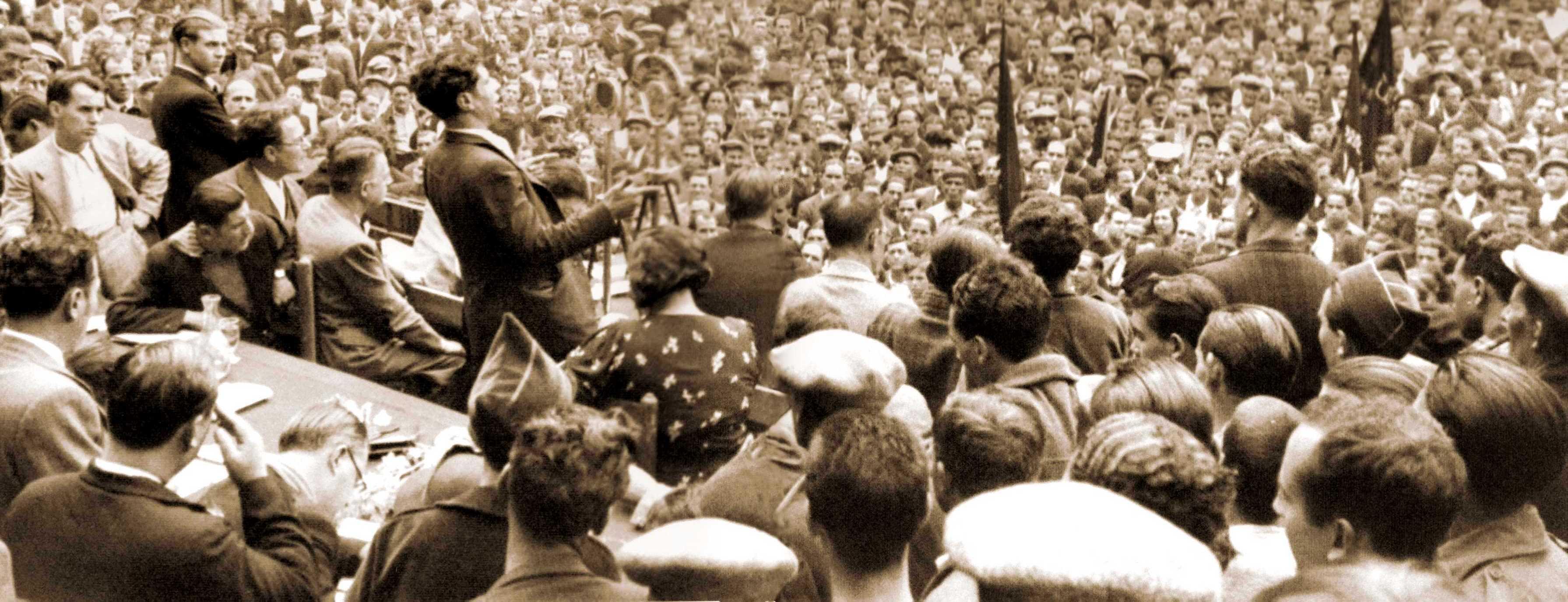 """Intervenció de """"Marianet"""" en el gran míting de la Monumental del 25 d'octubre de 1936"""