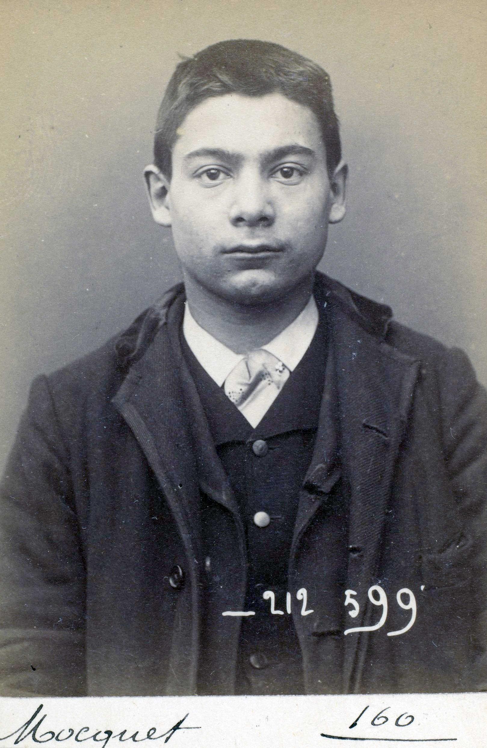 Foto policíaca de Georges Mocquet (6 de gener de 1894)