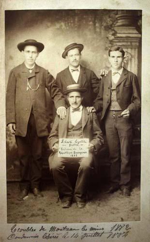 Condemnats pels fets de Montceau-les-Mines de 1882, alliberats el 14 de juliol de 1884