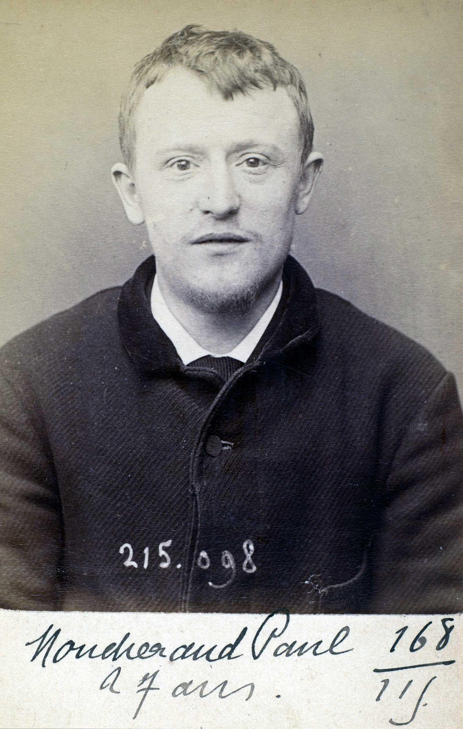 Foto policíaca de Paul Moucheraud (4 de març de 1894)