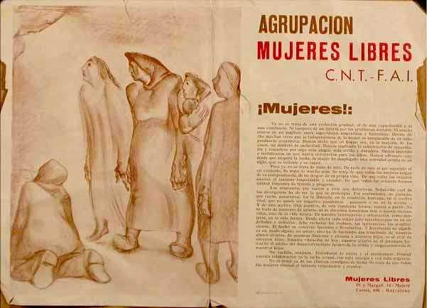 """Periòdic mural de """"Mujeres Libres"""""""