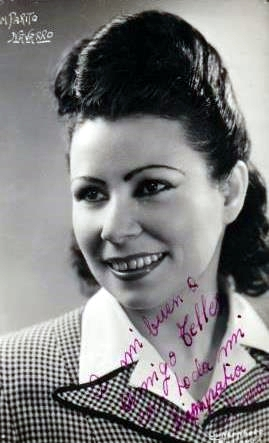 Amparo Navarro (1947) en una foto dedicada a Antoni Téllez Solà [militants-anarchistes.info]