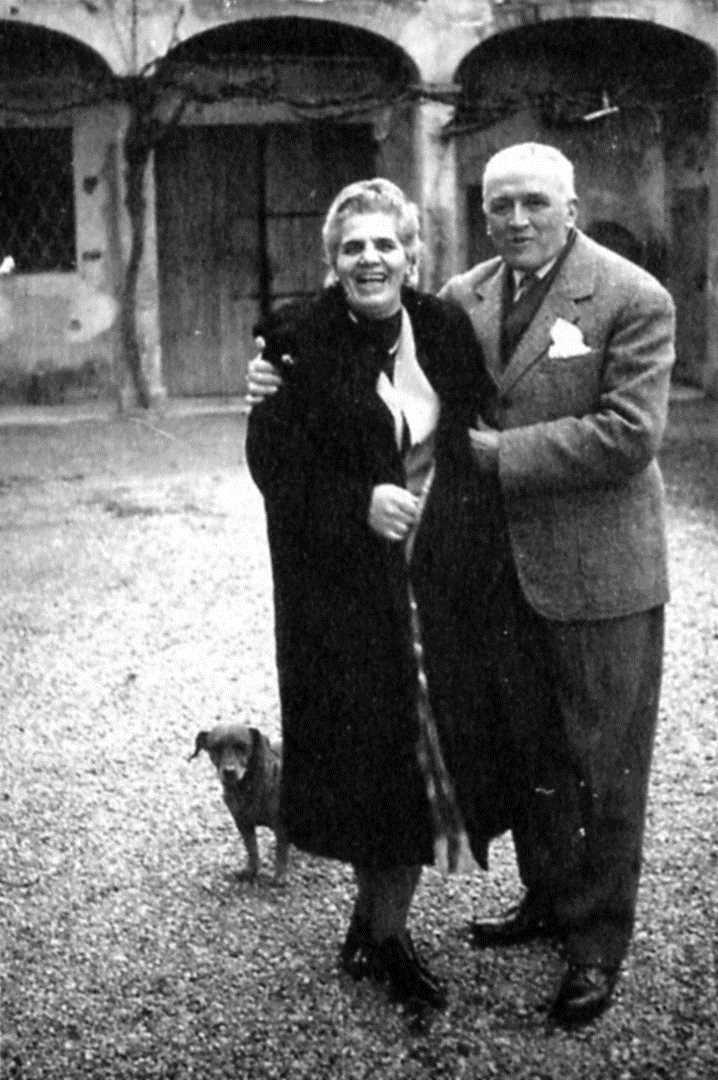 Emma Neri, Nello Garavini y ca Kim (Castel Bolognese, 1961)