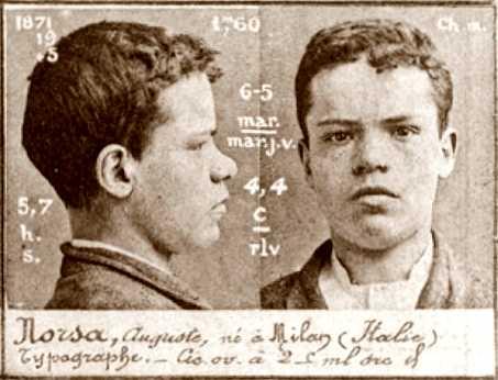 Foto policíaca d'Augusto Norsa (ca. 1894)