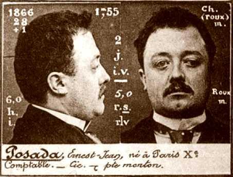 Foto policíaca de Jean Pausader (ca. 1894)