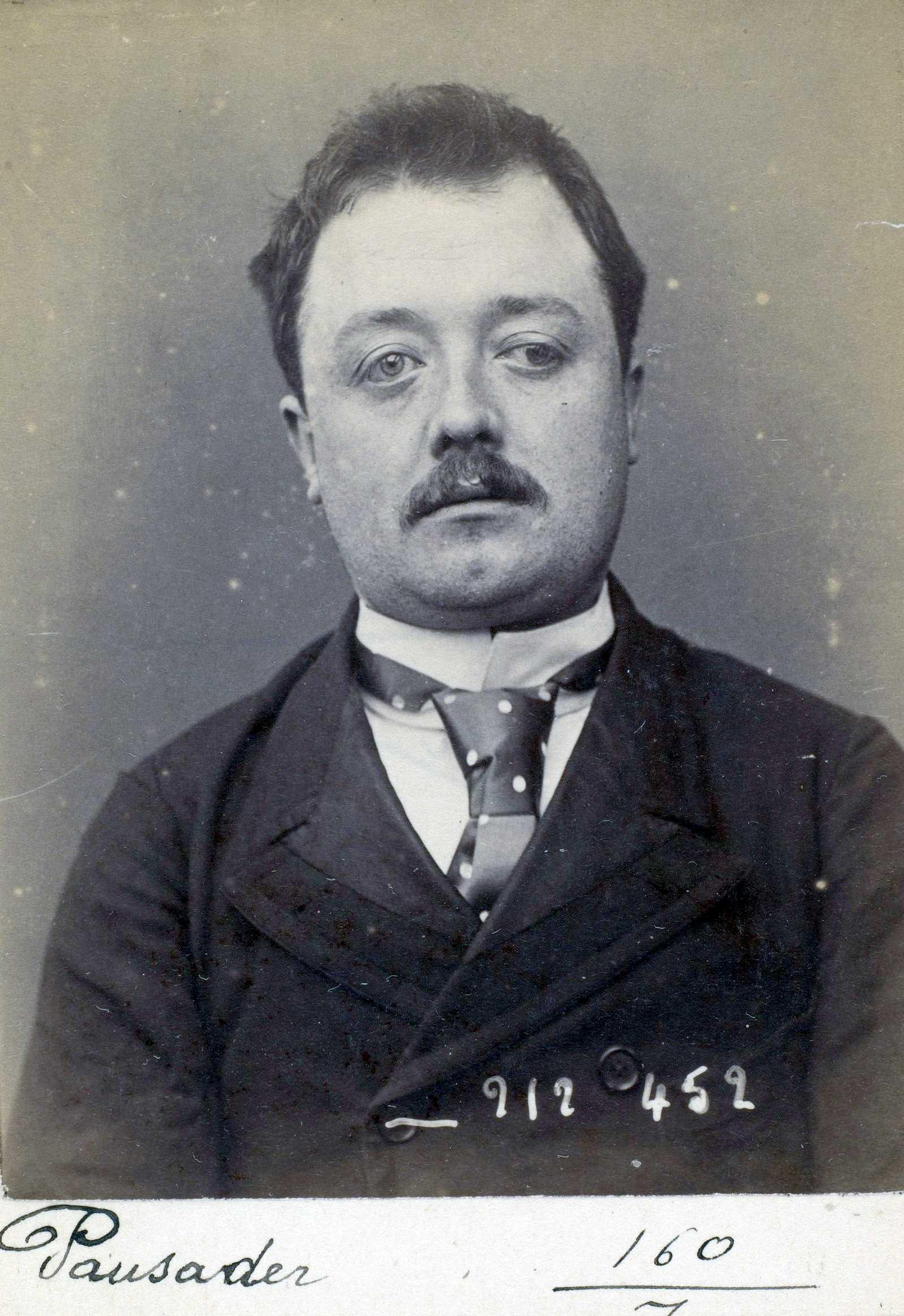 Foto policíaca de Jean Pausader (2 de gener de 1894)