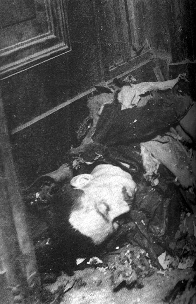 El cos d'Amédée Pauwels després de l'explosió
