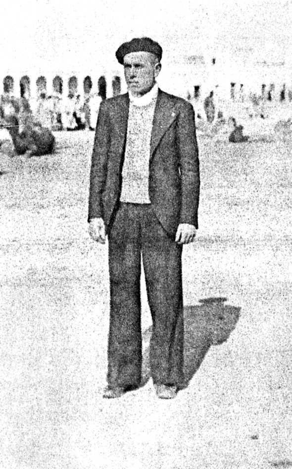 Josep Peidro Vilaplana a Colom-Béchar poc abans de morir (1940)