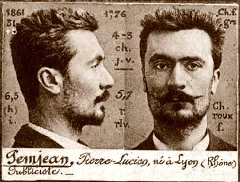 Foto policíaca de Lucien Pemjean (ca. 1894)