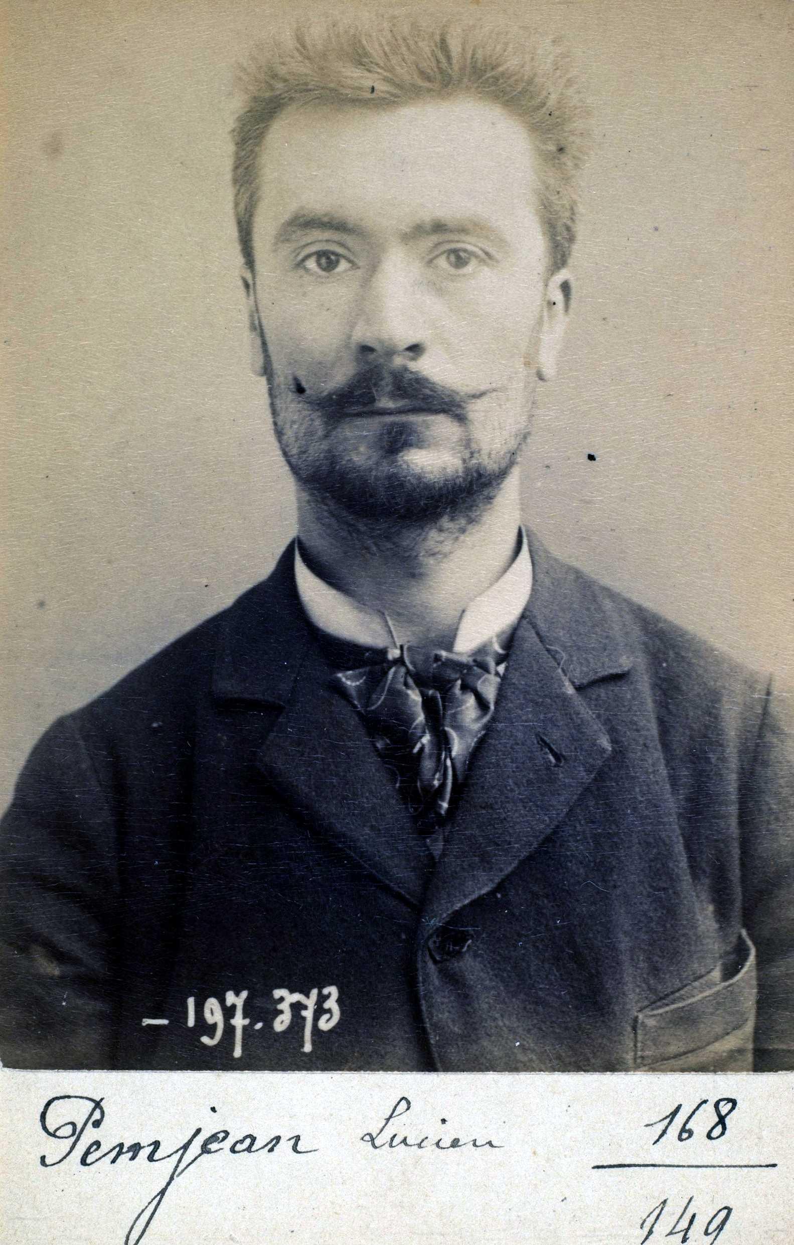 Foto policíaca de Lucien Pemjean (2 de gener de 1893)