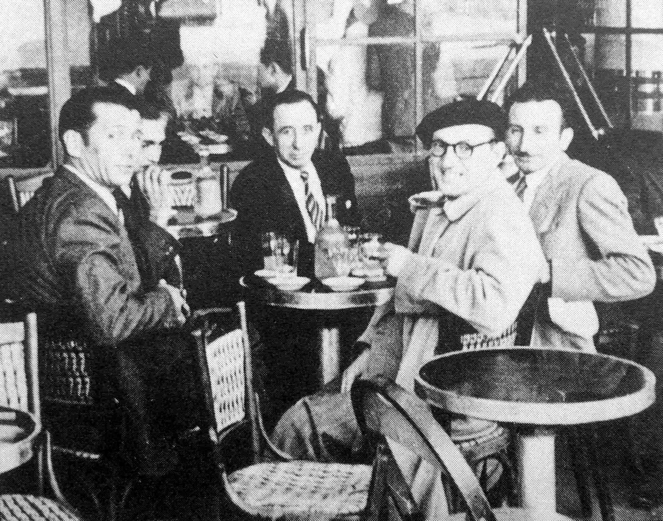 D'esquerra a dreta: José Pérez Ibáñez, Jacinto Santaflorentina, Josep Pujol Grua i Antonio Ortiz Ramírez (Tolosa, 1949)