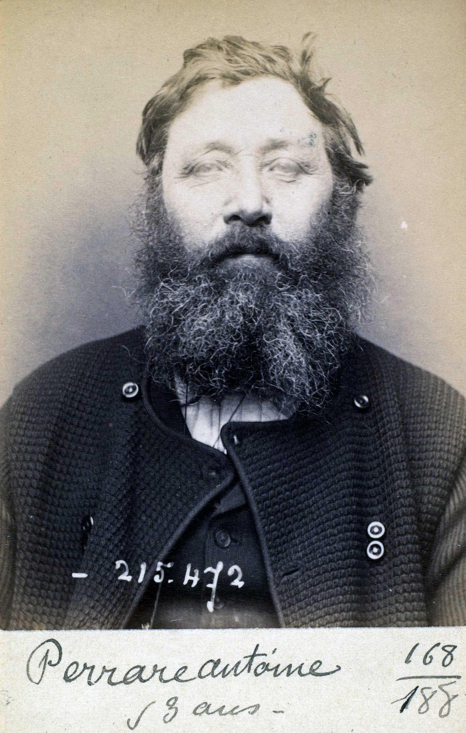 Foto policíaca d'Antoine Perrare (10 de març de 1894)