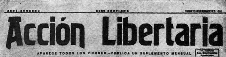 "Capçalera d'""Acción Libertaria"""