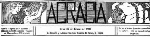 """Cabecera de """"Acracia"""""""