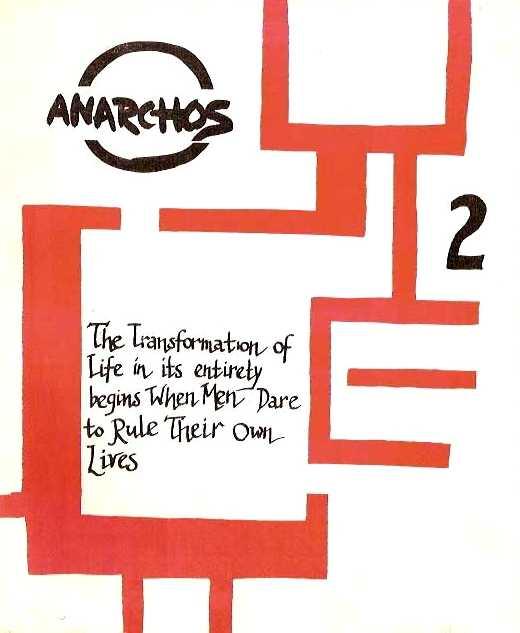 """Portada del segon número d'""""Anarchos"""""""