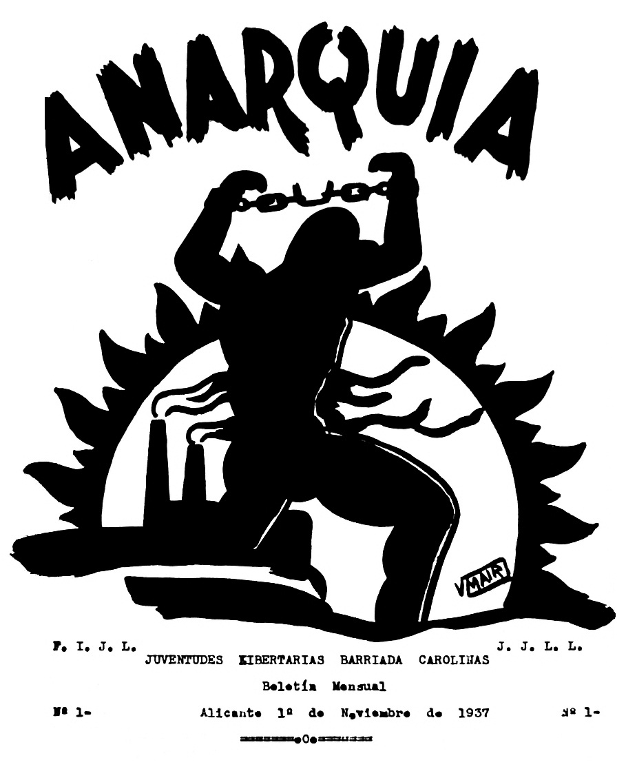 "Portada del primer i únic número d'""Anarquía"""