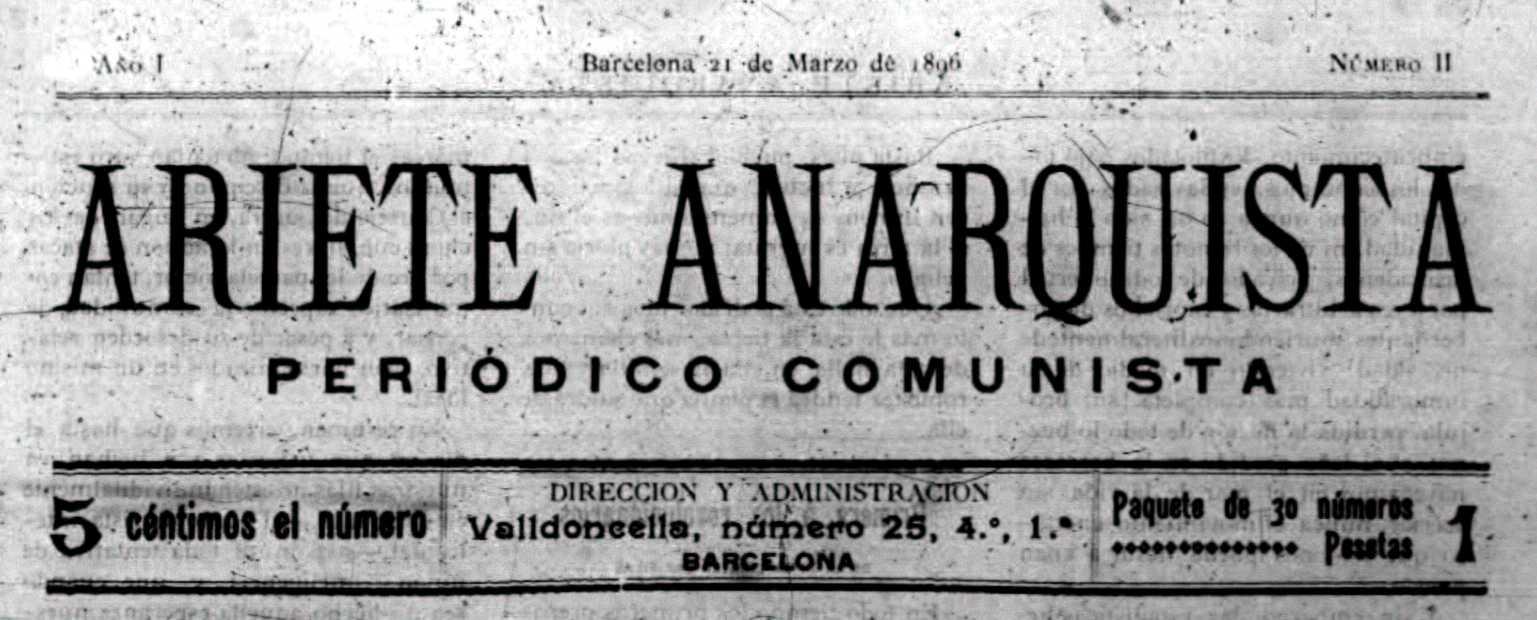 "Capçalera de l'""Ariete Anarquista"""