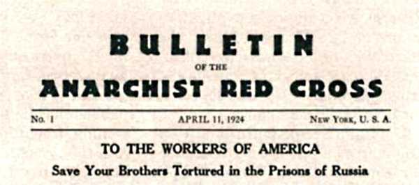 "Capçalera del ""Bulletin of the Anarchist Red Cross"""