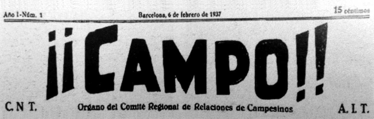 "Capçalera del primer número de ""¡¡Campo!!"""