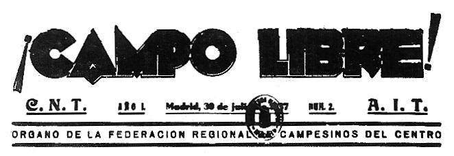 """Capçalera de """"¡Campo Libre!"""""""