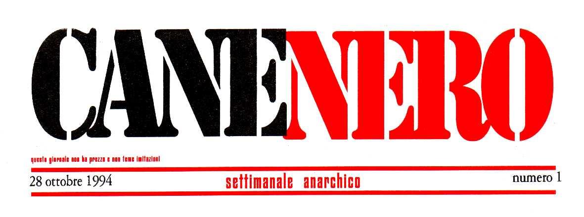 "Capçalera del primer número de ""CaneNero"""