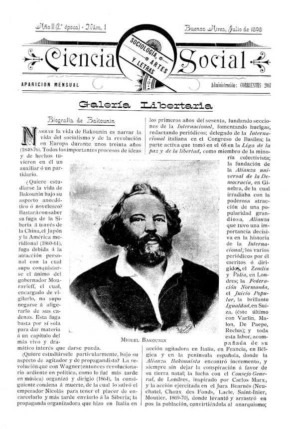 """Un exemplar de """"Ciencia Social"""", editat per Fortunato Serantoni"""