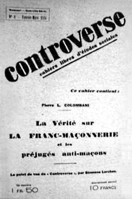 """Un exemplar de """"Controverse"""""""