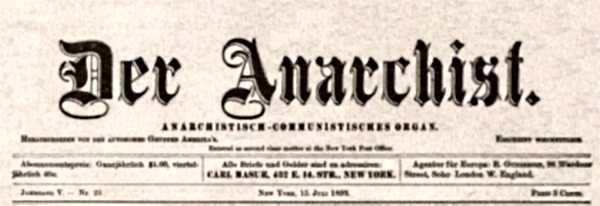 "Capçalera de ""Der Anarchist"""