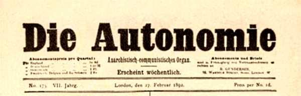 "Capçalera de ""Die Autonomie"""