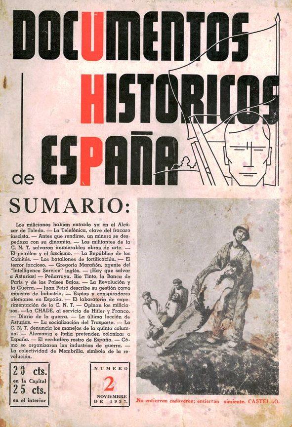 "Portada del primer número de ""Documentos Históricos de España"""