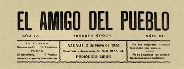 """Cabecera de """"El Amigo del Pueblo"""""""