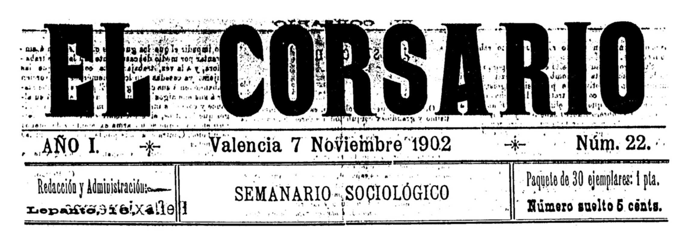 "Capçalera d'""El Corsario"""