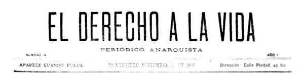 """Capçalera d'""""El Derecho a la Vida"""""""