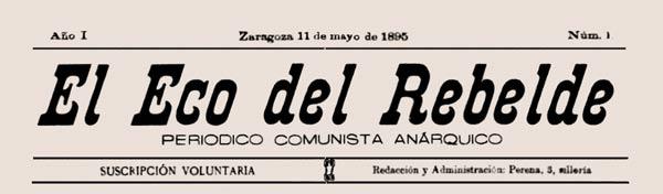 """Capçalera del primer número d'""""El Eco del Rebelde"""""""
