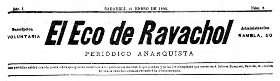 """Capçalera d'""""El Eco de Ravachol"""""""