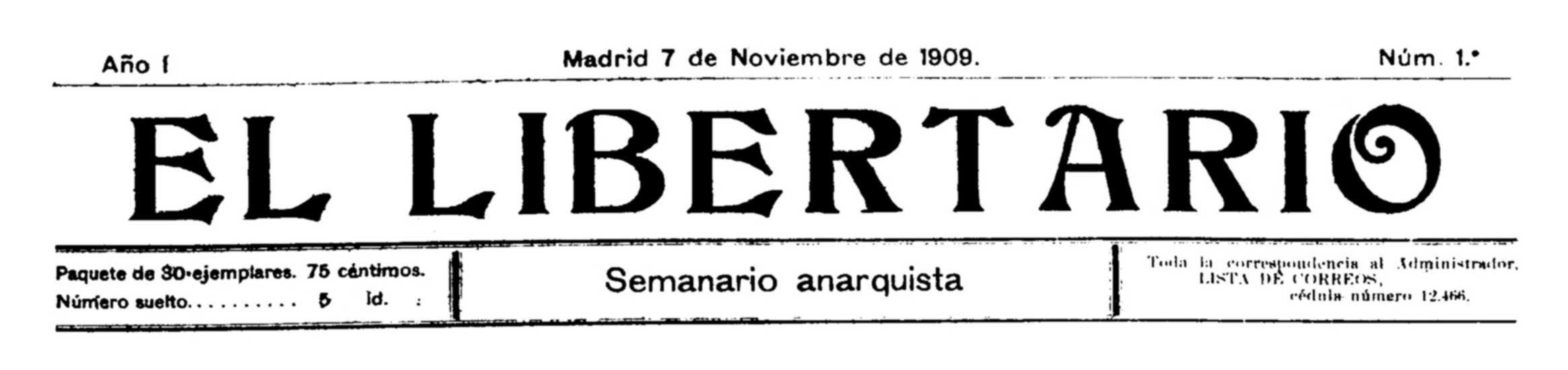 "Cabecera de ""El Libertario"""